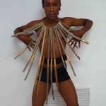 Tristan Rodney - Fragile Jamaica coll, necklace driftwood and brass leaves - Love is not enough #2