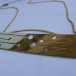 A day, necklace dandelion, brass, 2014