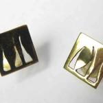 One day, Béné lover's cufflinks, brass, 2015