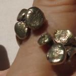 Burkina 2015, ring 2 parts, bronze, Burkina 2015, porte