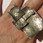 Burkina 2015, ring squares, bronze, 2015