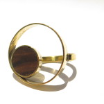 Ring rond in a circle, lignum vitae's wood and brass, 2016 (Collection Fragile Jamaica, Lignum Vitae)