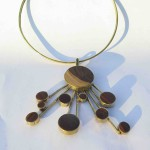 Fragile Jamaica, Necklace, Lignum vitae  and brass, 2017
