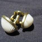 Fragile Jamaica, cufflinks, brass and shells from Treasure Beach, 2015