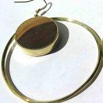Fragile Jamaica, earrings, Lignum Vitae, 2019