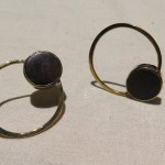 Fragile Jamaica, earrings, lignum vitae from Treasure Beach and brass, 2015