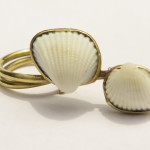 Ring, 2 shells from Treasure Beach and brass, 2016 (Collection Fragile Jamaica /Shell)