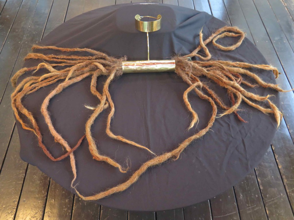 Charlotte's dreads, brass and natural hair, 2016
