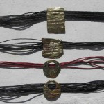 necklace, Africa : languette, cuir, bronze, laiton, 2013