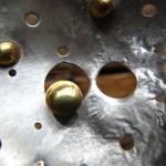 lune (détail), argent et laiton, 2010
