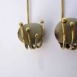 earrings, Fragile Jamaica / Guilded cage, bronze and seed, 2014