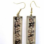 Jamaican Landscape, earrings, resine, brass, seafan, 2017