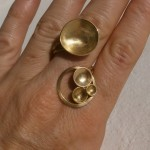 "ring, ""Planets"", constellation, brass, 2013"