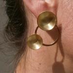 """earring, """"Planets"""", orbit, brass, 2013"""