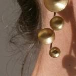 "earring, ""Planets"", galaxy, brass, 2013"