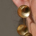 "earring, ""Planets"", 2 moons, brass, 2013"