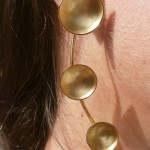 "earring, ""Planets"", ecliptic, brass, 2013"