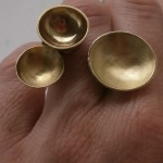 "ring, ""Planets"", 2 moons, brass, 2013"