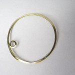 Planet, Lucie's Bangle, brass, 2015