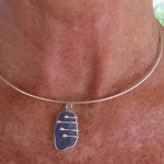 Annabelle's order: Seaglass and sterling silver pendant 2016