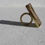 Ring, cactus from Treasure Beach, brass, 2012