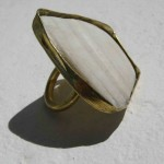 Ring, shell from Treasure Beach and brass, 2012
