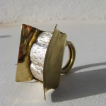 Ring, Fragile Jamaica , cactus and silver leave, brass, 2013