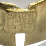 carré caro (détail), bronze, 2006, adopté