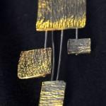 comète épidermique, laiton et argent, 2010