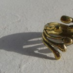 """ring, Africa, """"2 hands"""", bronze, 2013"""