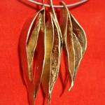 3 pendants (détail), argent et bronze, 2009