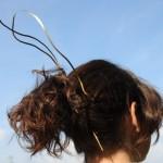 broche à cheveux, laiton, 2010