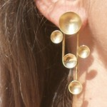 Collection Planets, earrings A system, brass, 2013