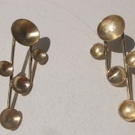 "earrings, ""Planets"", A system, brass, 2013"