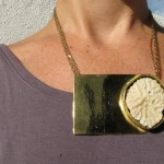 Necklace, Fragile Jamaica, white coral (Robins Bay) and brass, 2013