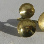 """ring, """"Planets"""", 2 moons """"2"""", brass, 2013"""