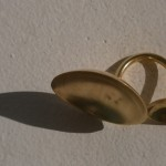 ring, Planets, earth and moon, brass, 2013