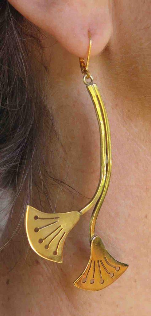 Papyrus, earrings, 2019